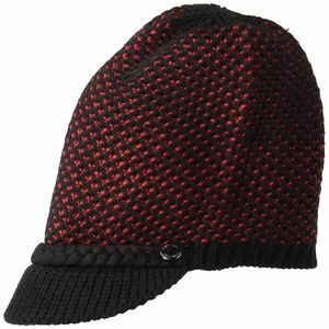 Calvin Klein Knit Hat Black/Red/OS/NWT